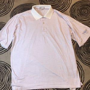 Peter Millar men's large collared golf shirt